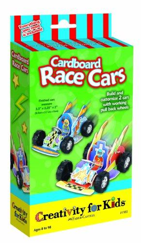 Creativity For Kids Cardboard Race Cars Kit front-503934