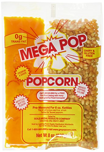 Gold Medal Popcorn Kit Coconut, 8oz kit for 6 Oz popper, 36 count (Coconut Butter For Popcorn compare prices)