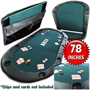 Trademark Poker 78-Inch by 36-Inch Texas Hold'em Poker Padded Table Top with Cupholders