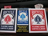 Bicycle 2 Deck Red Blue Playing Cards with Free Mini Travel Deck
