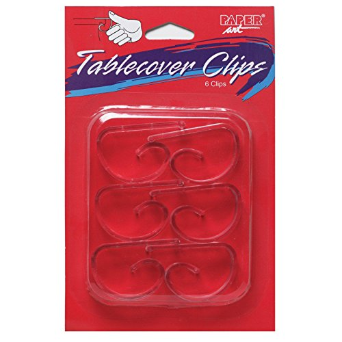Creative Converting 01600 6 Count Touch of Color Plastic Table Cover Clips, Clear