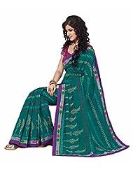 Ashika Printed Indian New Art Silk Sari And Saree (2274)