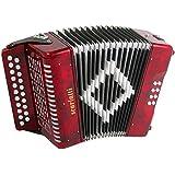 Scarlatti 2-Row Accordion B-C Red