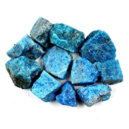 Crystal Allies Materials: 3lb Bulk Rough Blue Apatite Stones from Madagascar - Large 1\
