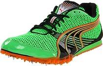Puma Complete TFX Distance III Track Shoe,Classic Green/Black/Vermillion Range,13 D US