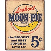 Vintage Tin Signs: Moon Pie Best Lunch with Coffee Bottomless Cup