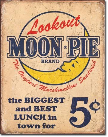 Moon Pie Best Lunch Distressed Retro Vintage Tin Sign