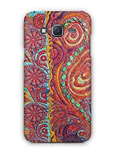 Cover Affair Embroidary Print Printed Back Cover Case for Samsung Tizen Z3