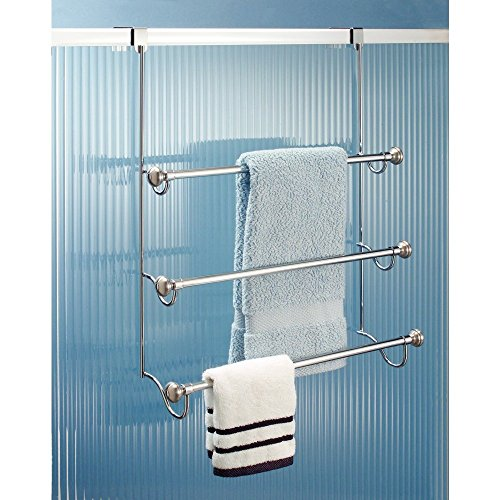 Over The Door Towel Rack Bathroom: Over-The-Shower-Door 3-Bar Towel Rack