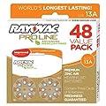 Rayovac ProLine Advanced Mercury-Free Hearing Aid Batteries, Size 13A