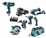 Makita 18V LXT Li Ion LXT600 6 Piece Kit And BTW450 BTW450Z BTW450Rfe Impact Wrench