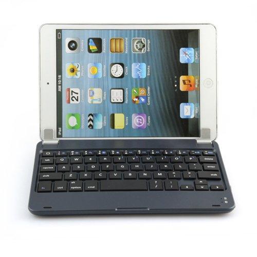 MiniSuit NewYorkApple iPad mini Bluetooth ワイヤレス キーボード ハード素材 サテンフィニッシュ スタンドカバー 全5色 ブラック
