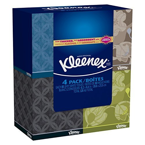 Kleenex Everyday Facial Tissue Upright 80 2 Ply 4 Pack (Tissue Box Upright compare prices)