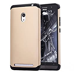ASUS ZenFone 6 AnoKe? Armor dual layer bumper case TPU PC hybrid protective case for ASUS ZenFone 6 (Armor Gold)