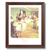 Edgar Degas Girl Tutu Ballet Dance Class Ballerina Wall Picture Cherry Framed Art Print