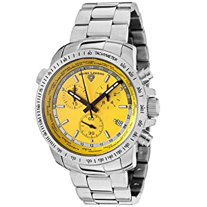 Mens 10013-77 World Timer Collection Chronograph Stainless Steel Watch