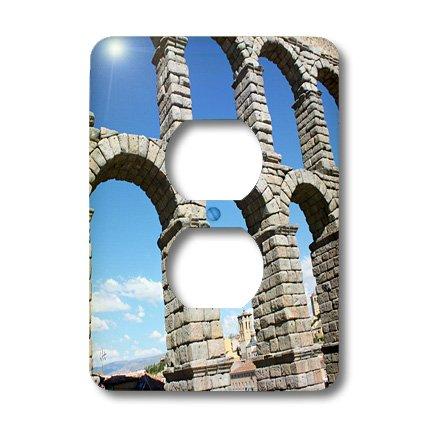 Lsp_100289_6 Albom Design Unusual Places - Aqueduct Of Segovia, Famous Roman Aqueduct Segovia, Spain - Light Switch Covers - 2 Plug Outlet Cover