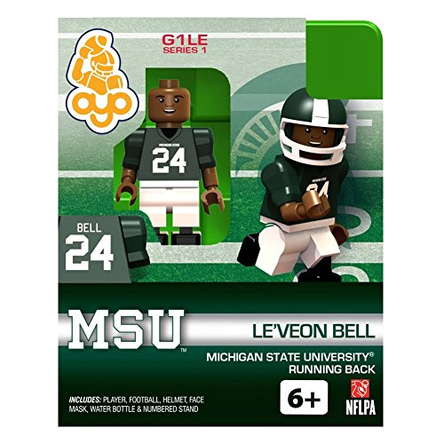 Le'Veon Bell NCAA Michigan State University OYO G1S1 Minifigure - 1