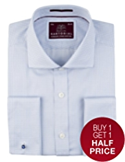 2in Longer Sartorial Pure Cotton Gingham Checked Shirt