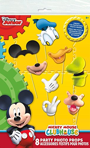 Mickey Mouse Clubhouse Photo Booth Props, 8pc (Mickey Mouse Theme Party Supplies compare prices)