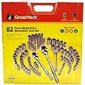 GreatNeck HC82U Multi-Drive Mechanic's Tool Set, 82-Piece