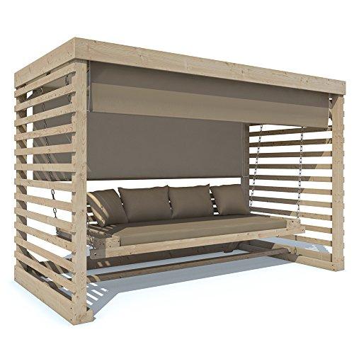 Gartenmobel Holz Fabrikverkauf : Serina Hollywoodschaukel Tiffany Holz Gartenschaukel Schaukelbank Gar