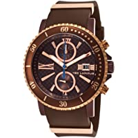 Ted Lapidus 5125506Sm Chrono Brown Rubber Brown Carbon Fiber Dial Purple Case Men's Watch