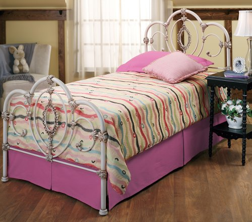 Hillsdale Furniture 1310Btwr Victoria Bed Set With Rails, Twin, Antique White front-917607