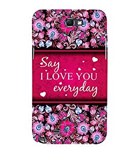 I Love Everyday 3D Hard Polycarbonate Designer Back Case Cover for Samsung Galaxy Note i9220 :: Samsung Galaxy Note 1 N7000