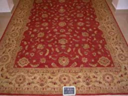 12x15 Beautiful Hand Knotted Vegetable Dye One-of-a-Kind Rug Actual Size 12\'0x15\'0