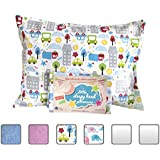 Toddler Pillowcase - Made for Little Sleepy Head Toddler Pillow 13 X 18 - 100% Cotton - Naturally Hypoallergenic - Made in USA! (Cars)