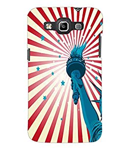 PrintDhaba Liberty Of Statue D-5582 Back Case Cover for SAMSUNG GALAXY WIN i8552 (Multi-Coloured)