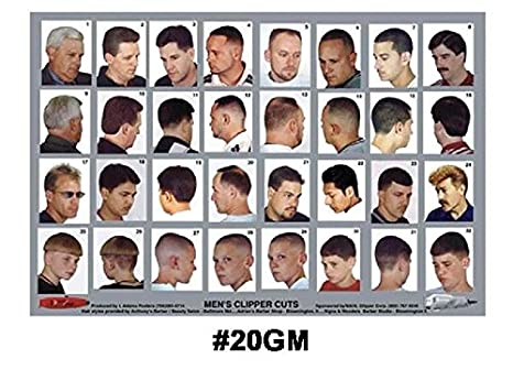 Barber Guide : Barber Shop Hairstyles Poster Laminated Barber Shop Poster