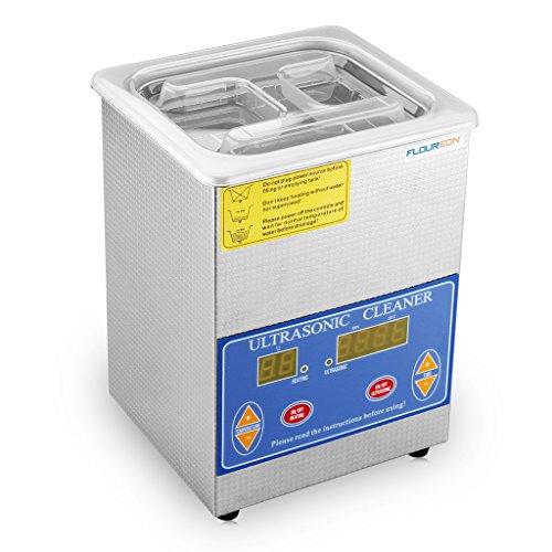 FLOUREON® Edelstahl Ultraschallgerät Hochdruckreiniger Digital Bildschirm Ultraschallreiniger 2L Cleaner