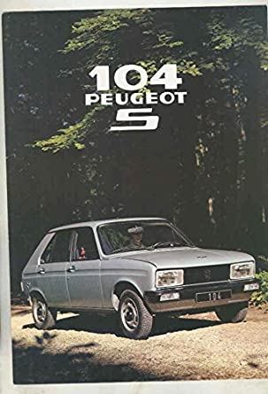 1979 Peugeot 104 S Brochure French at Amazon's Entertainment