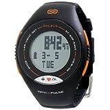 Soleus SH006 Pulse Digital Display Heart Rate Monitor Watch, Men's (Black/Orange)