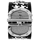 GUESS? Women's W11510L2 Black Houndstooth Split Dial Watch