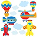 Wallies 15223 Up, Up, and Away Wallpaper Mural, 2-Sheet