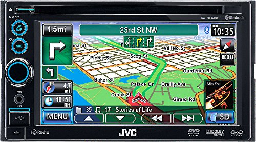 """Jvc Kw-Nt30Hd 6.1"""" Double Din Receiver Built In Bluetooth Navigation Kwnt30Hd"""