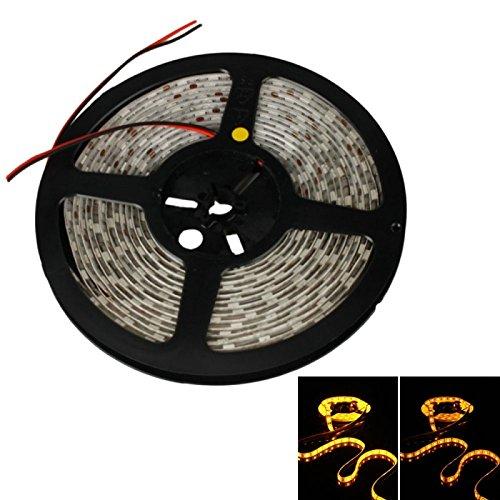 Led Strip Lights - 36W Smd5050 5M 300Leds Orange Yellow Light Epoxy Waterproof Led Light Strip (White Lamp Plate) (12V)