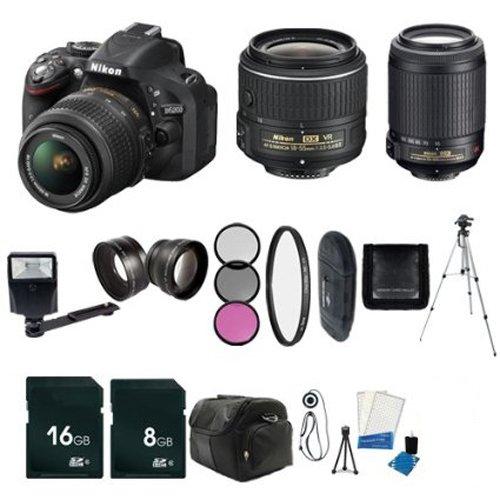 Nikon 40mm f//2.8G AF-S DX Micro-Nikkor Lens Nikon AF-S DX VR Zoom-Nikkor 55-200mm f//4-5.6G IF-ED 52mm Pro Series Hard Tulip Lens Hood For Nikon 18-55mm f//3.5-5.6G ED II AF-S DX Zoom-Nikkor