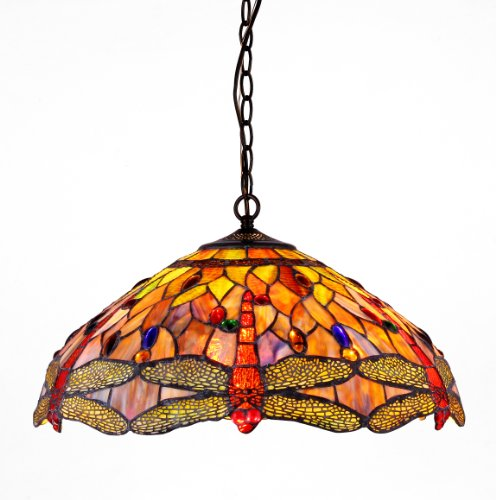 Awesome  CHDB DH Tiffany style Dragonfly Light Ceiling Pendant Fixture