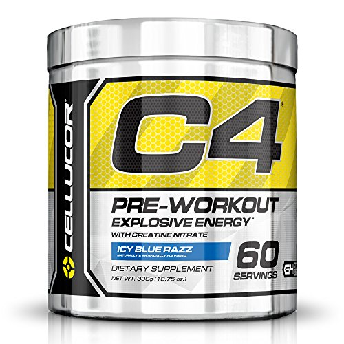 Cellucor C4 Pre Workout Supplements with Creatine, Nitric Oxide, Beta Alanine and Energy, 60 Servings, Icy Blue Razz, 13.75 Oz (390 g) (Peak Nitric Oxide Pills compare prices)
