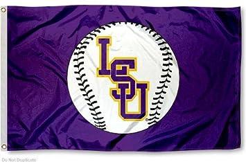 LSU Tigers Baseball Flag Large 3x5
