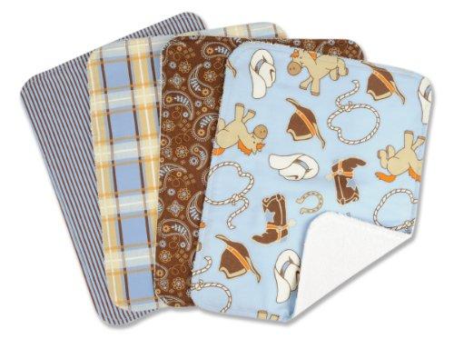 Trend Lab Cowboy Baby Burp Cloth Set Fulgenzia Genovesevas