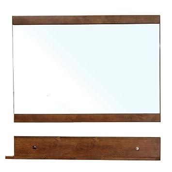 Bellaterra Home 203139-MIRROR Solid Wood Frame Mirror, Walnut