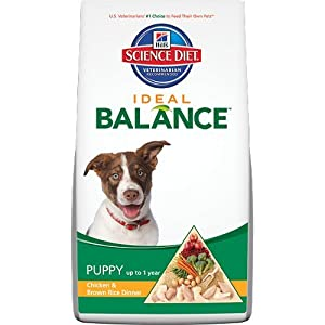 Hill's Science Diet Ideal Balance Puppy Chicken and Brown Rice Dinner Dry Dog Food Bag, 4-Pound