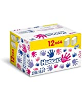 Huggies Lingettes Mains et Visage  Format Promo 12 Paquets X 64 Lingettes