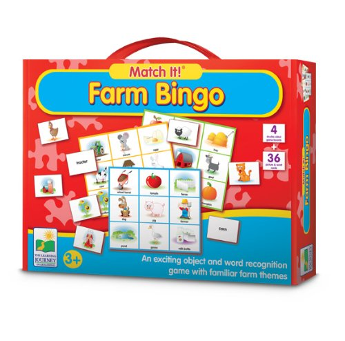 The Learning Journey Match It! Farm Bingo