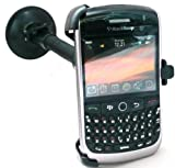 EMARTBUY DEDICATED CAR KIT FOR BLACKBERRY 8900 CURVE JAVELIN - INCLUDES MADE TO MEASURE SUCTION HOLDER, CAR CHARGER AND SCREEN PROTECTOR